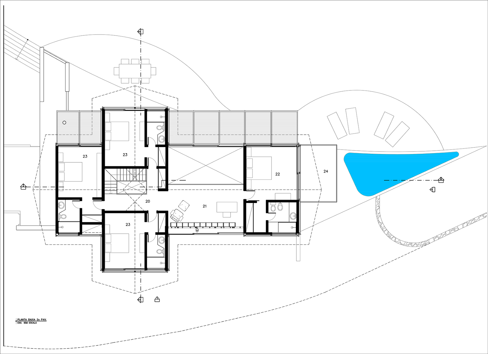 desain rumah organik dengan siluet indah cocok untuk di