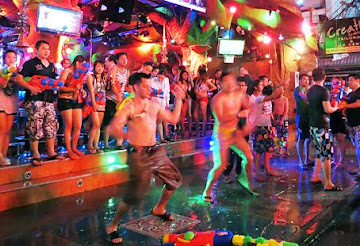 Thailand nightlife picture patong beach songkran