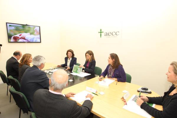 Queen Letizia attends a meeting at the AECC