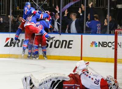 Holtby down as Rangers celebrate game 7 overtime win