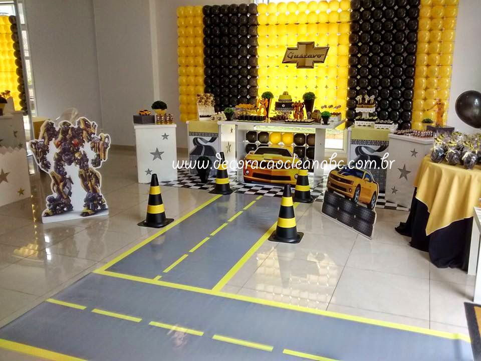 decoracao festa transformers Festa Camaro Amarelo, Festa Bumblebee