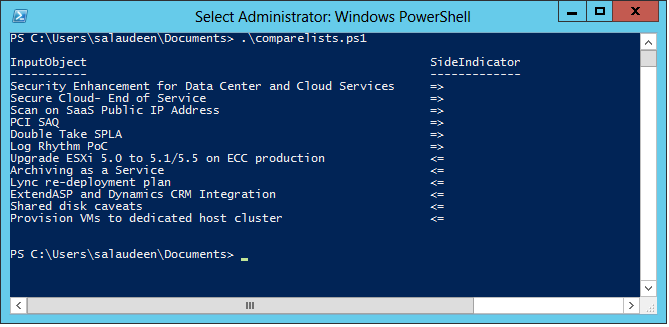 Compare SharePoint Lists using PowerShell