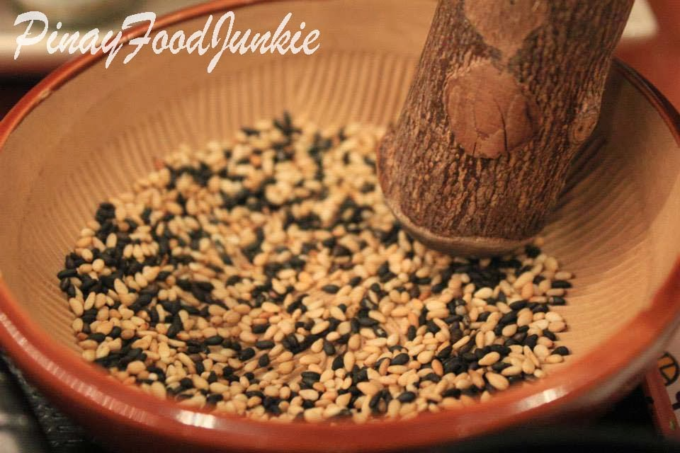 Grinding sesame seeds