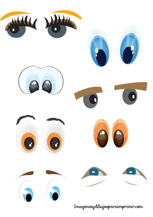 Eyes and mouths to print