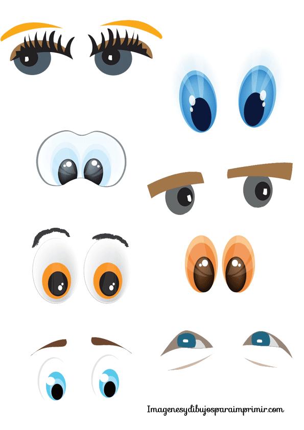 Ojos y bocas para imprimir