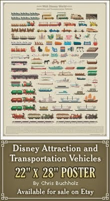 WDW Attraction Vehicles Poster
