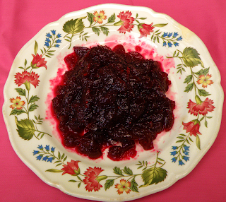 Plate of Cranberry-Cabernet Sauce