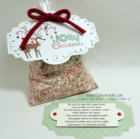 "Cello bag filled with ""magic reindeer food"""