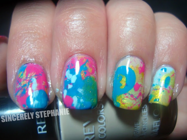 straw-splatter-nail-art