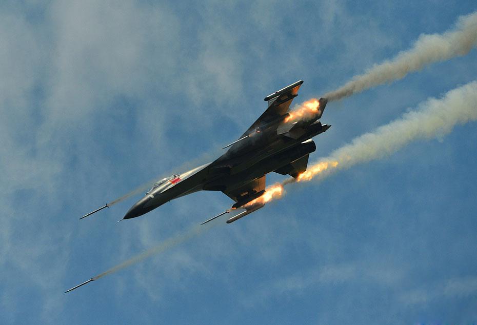 PLAAF's J-11 Sino Flanker Fighter Jet Participate in ...