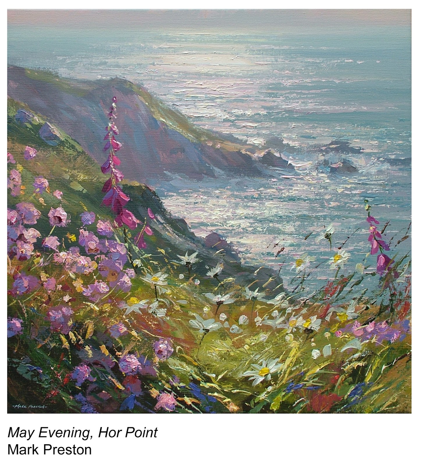 May Evening, Hor Point, a painting by Mark Preston