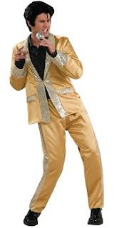 Elvis Gold Satin Suit Deluxe Adult Costume
