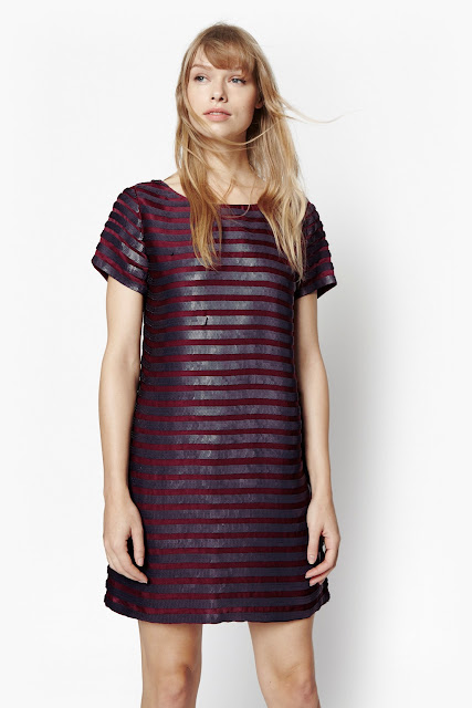 french connection sequin stripe dress, sequin pink stripe dress,