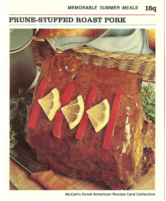pork roast just isn't a pork roast unless it is stuffed with prunes ...