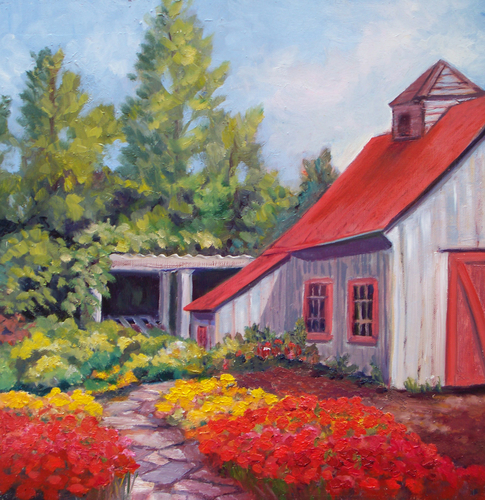 Paintings!: Mr. Casons Vegetable Garden Shed