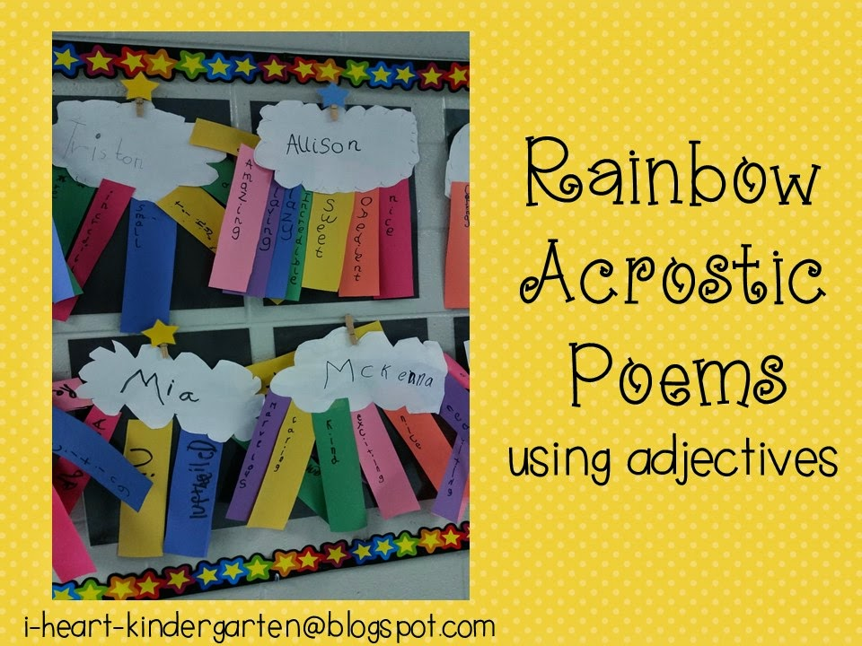 i teach kinder  kindergarten teaching resources  rainbow