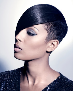 Black women short hairstyles with bangs 2013