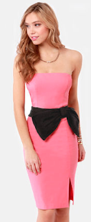 Lulu*s Sunning Side Up Strapless Coral Dress