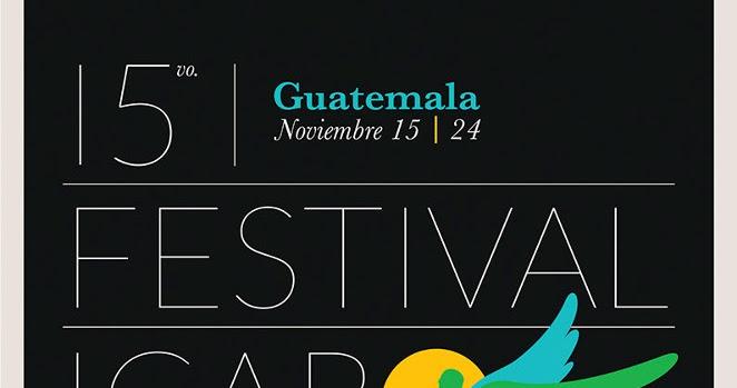 Afiche Oficial del  XV Festival Ícaro de Cine en Centroamérica, del 15 al 24 de noviembre de 2012 en Ciudad Guatemala