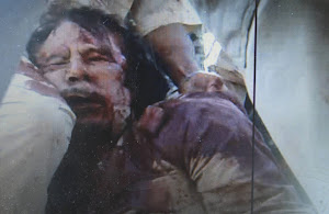 An image reported to be of Colonel Gaddafi