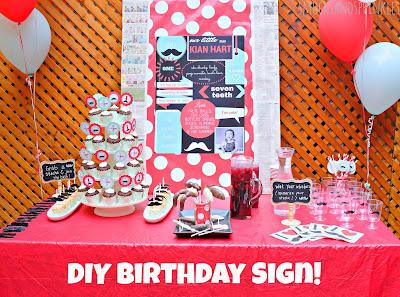diy birthday sign