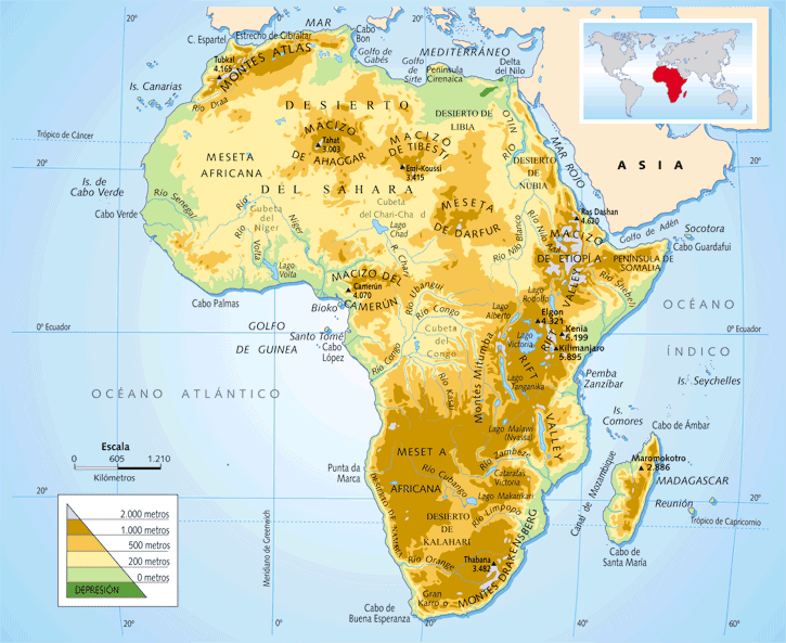 angola physical map with Africa Mapa Fisico on  likewise Madagascar Maps besides Cameroon Satellite Image together with Congo  fleuve furthermore Template States of Nigeria Image Map.