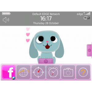 Dinky Dog Cute Animated Theme for Blackberry