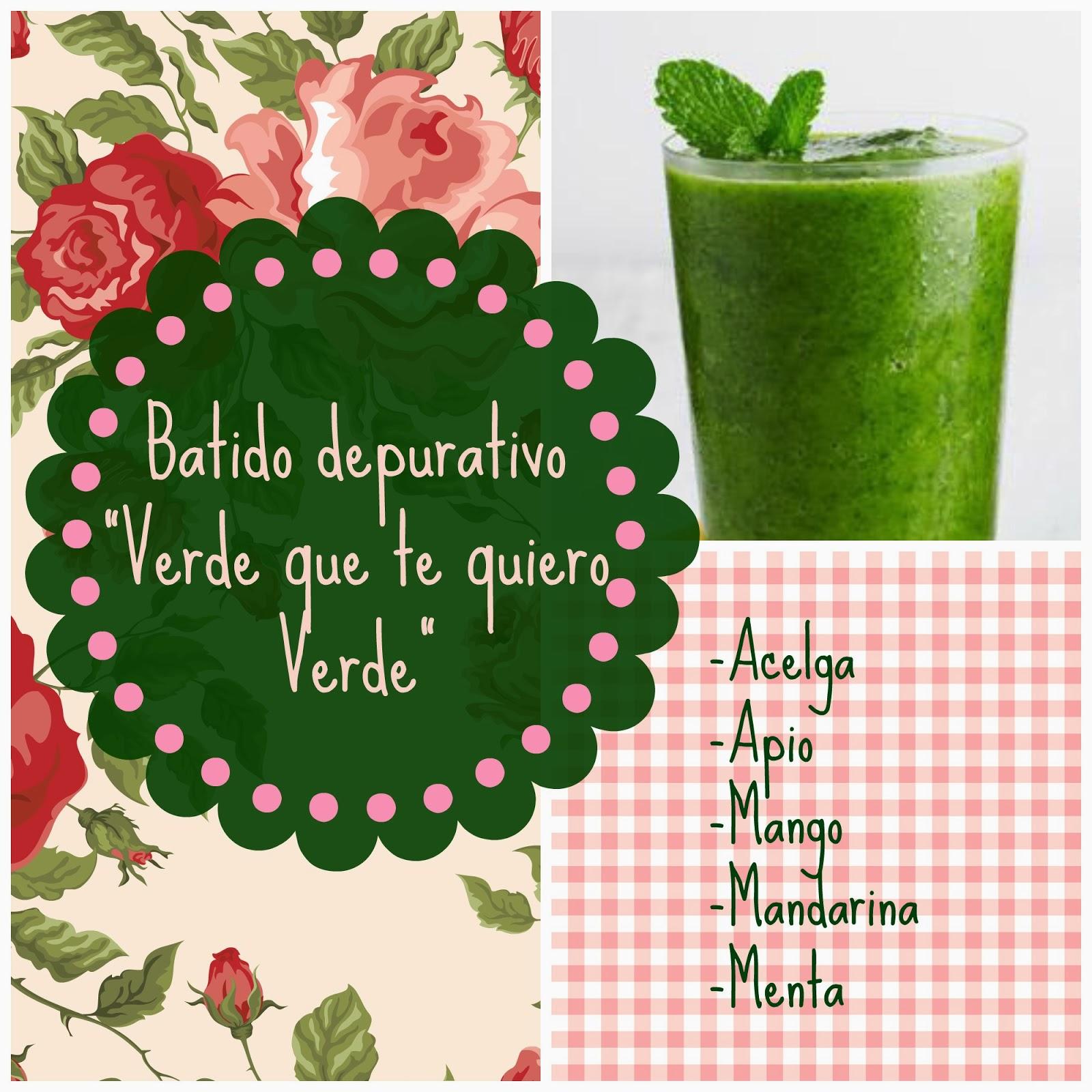 Batido detox, El Cuaderno de Flores