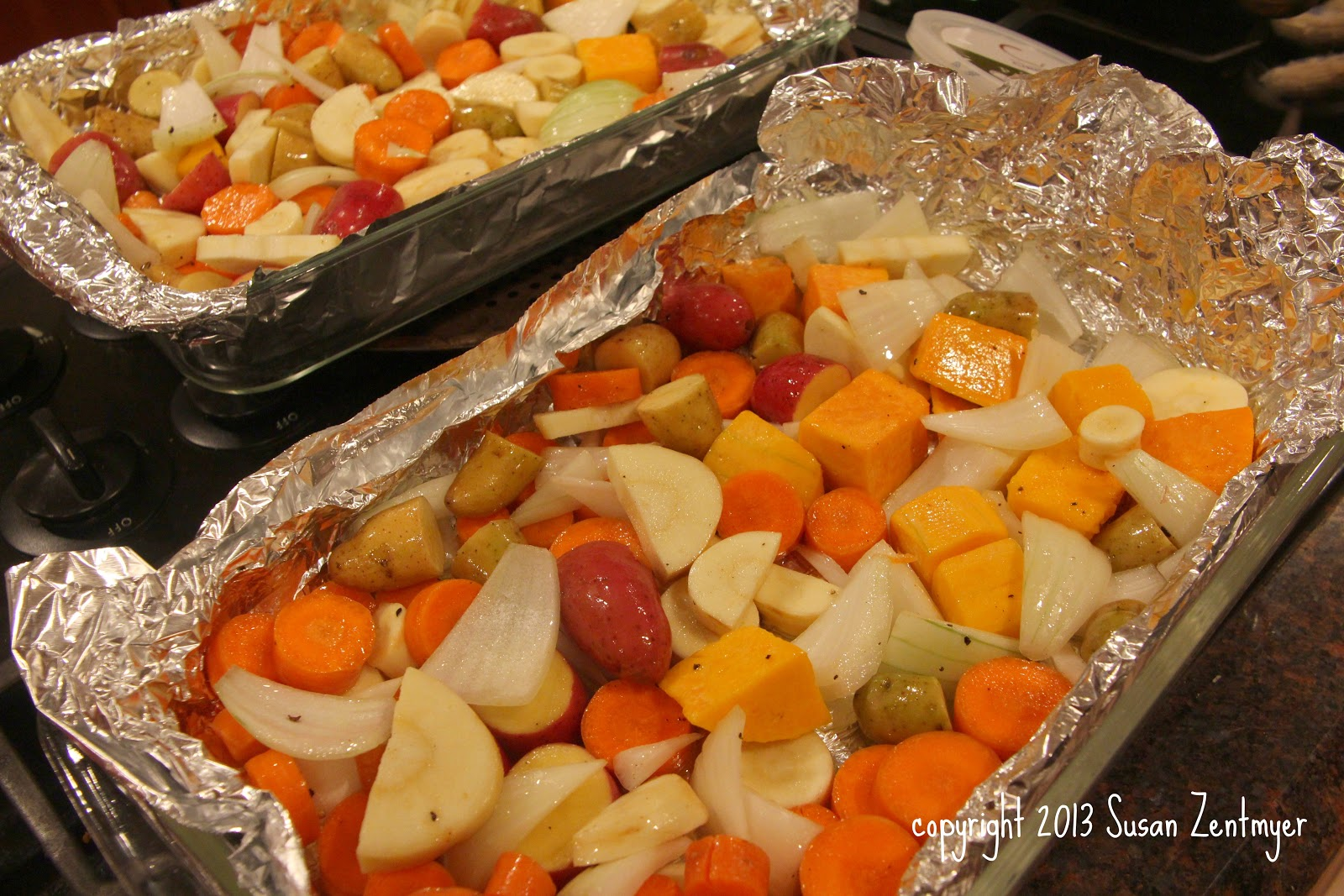 Love from the Kitchen: Roasted Vegetables with Pomegranate Vinaigrette