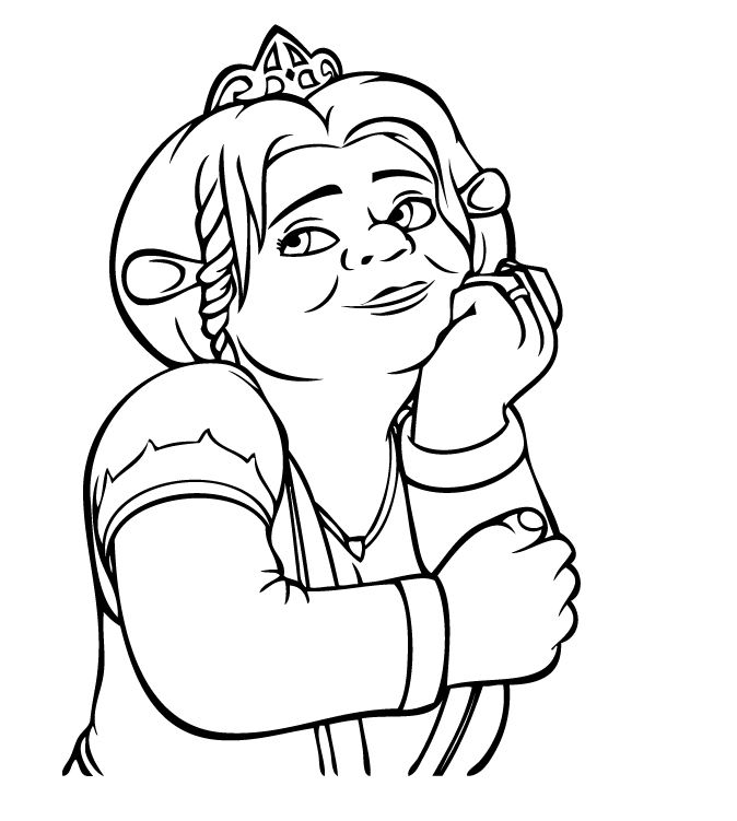 top shrek coloring pages