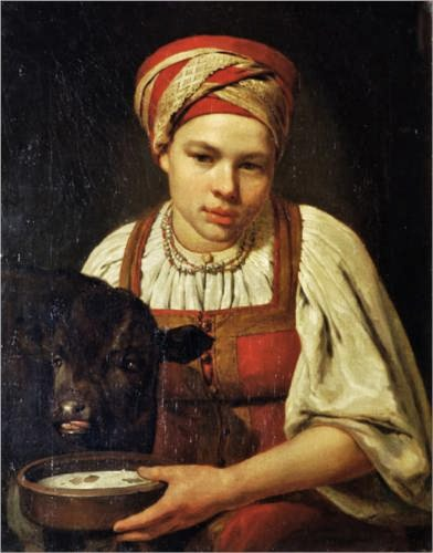 Alexey venetsianov russian painter 1780 1847 a peasant girl with