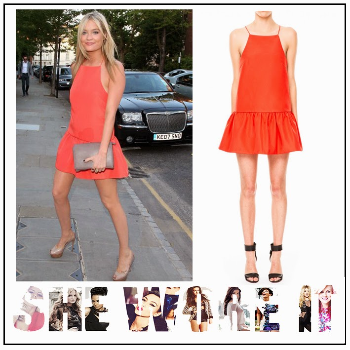 Bright, Dress, Drop Waist, Finders Keepers, Frill Detail, Hem Detail, ITV Summer Party, Laura Whitmore, Mini Dress, Pleated, Red, Sleeveless, Square Neckline,