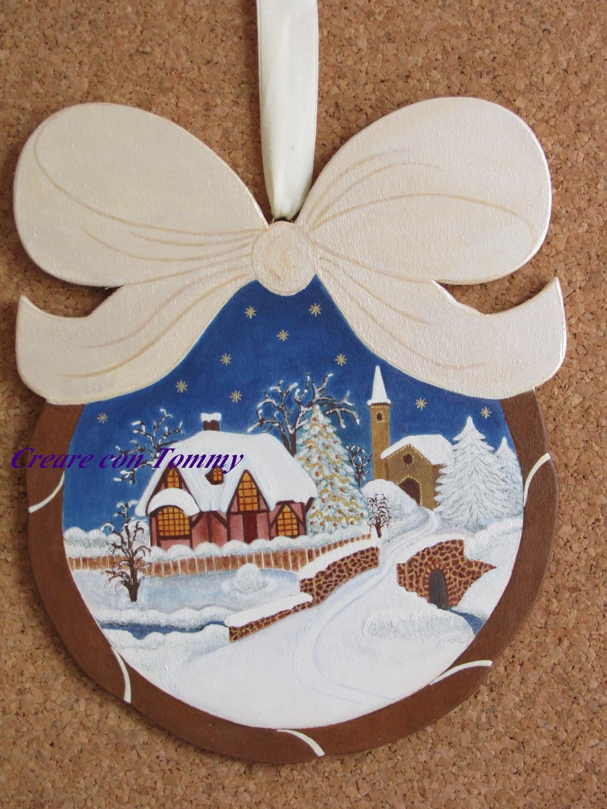Creare con tommy ottobre 2012 for Decorazioni natalizie in legno da appendere