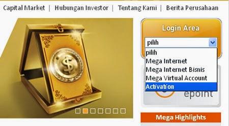 Cara Aktivasi Mega Internet Banking