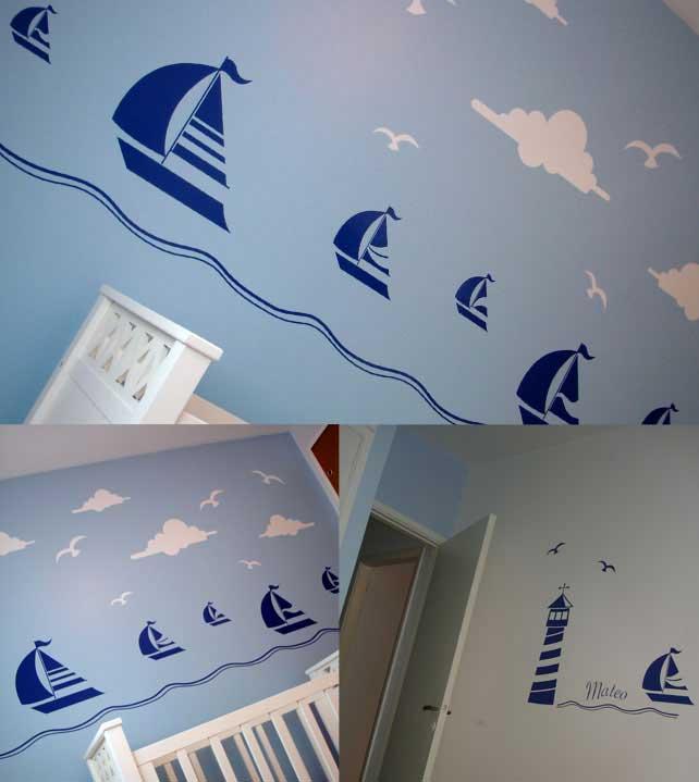 Decoraci n n utica para un cuarto infantil for Decoracion nautica infantil
