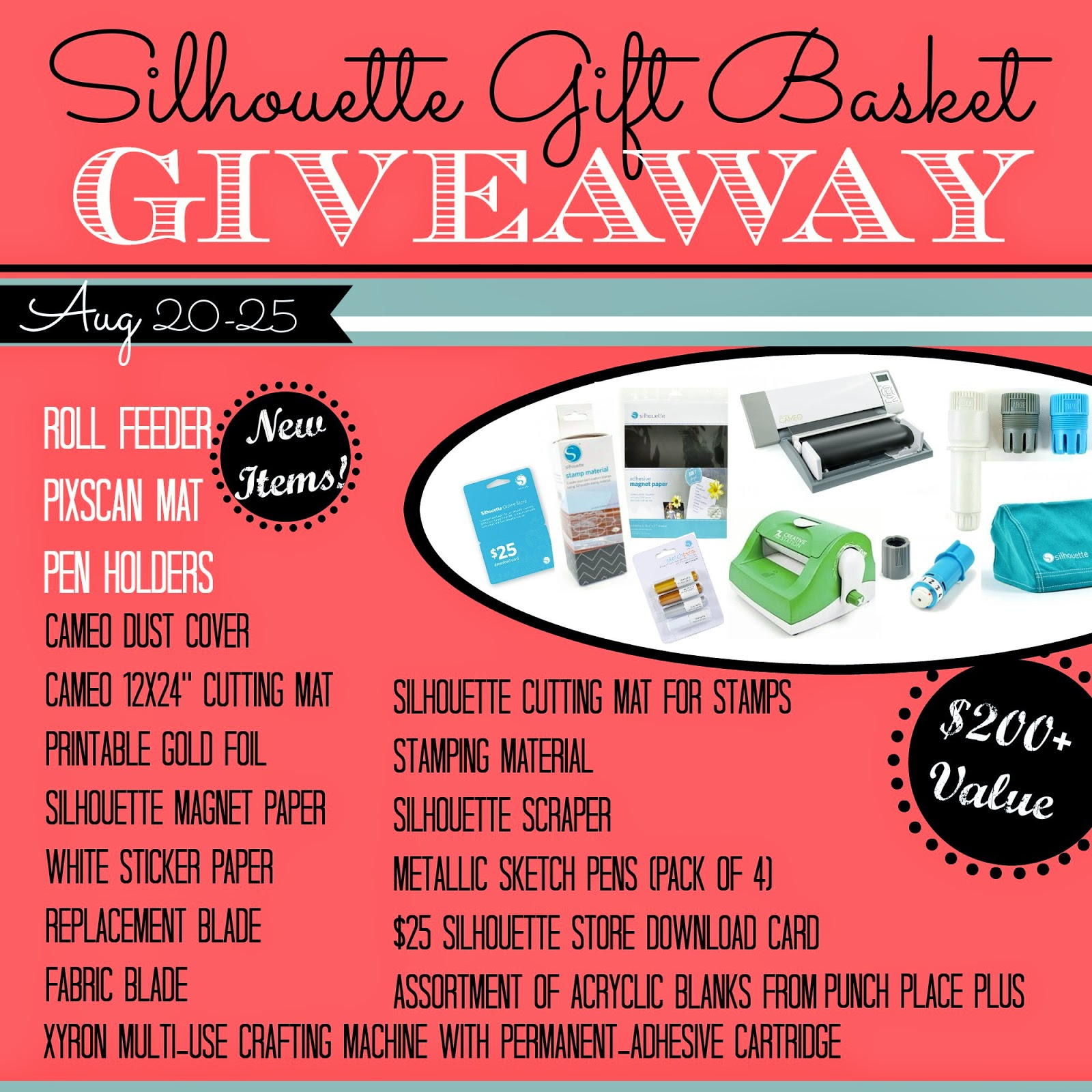 August 2014 silhouette school 200 silhouette gift basket giveaway with pixscan roll feeder more solutioingenieria Image collections