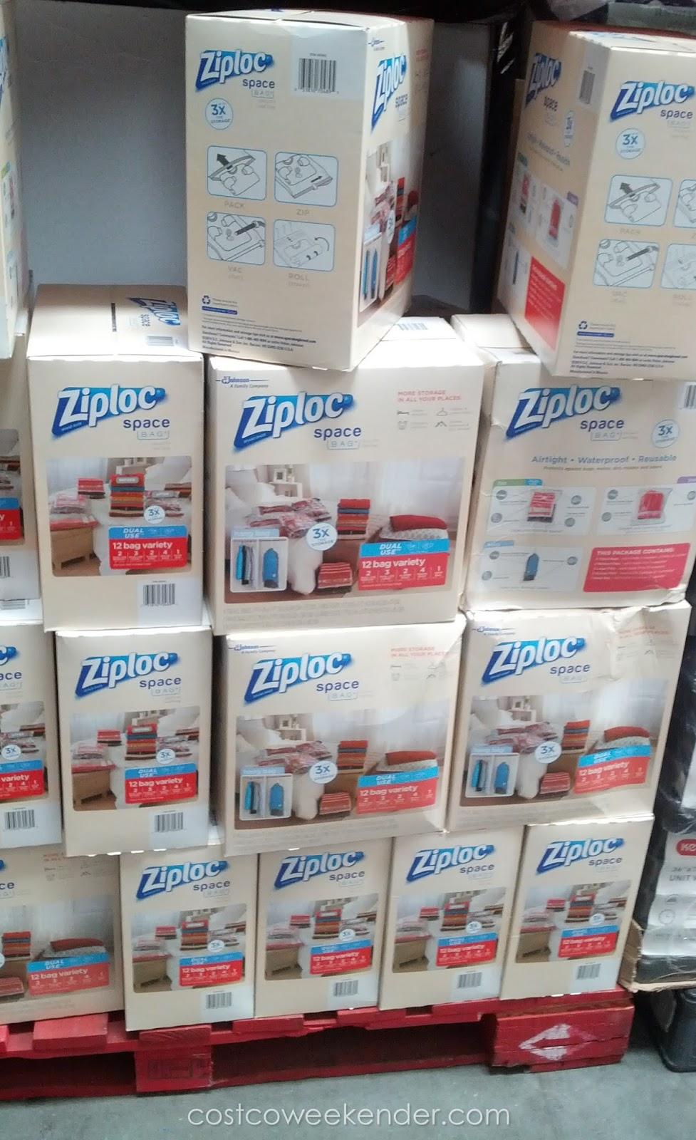 Ziploc Space Bag - Store clothing and bedding & Ziploc Space Bag (12 pc) | Costco Weekender