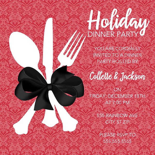 What 5 Teach Me: Holiday Dinner Invitation