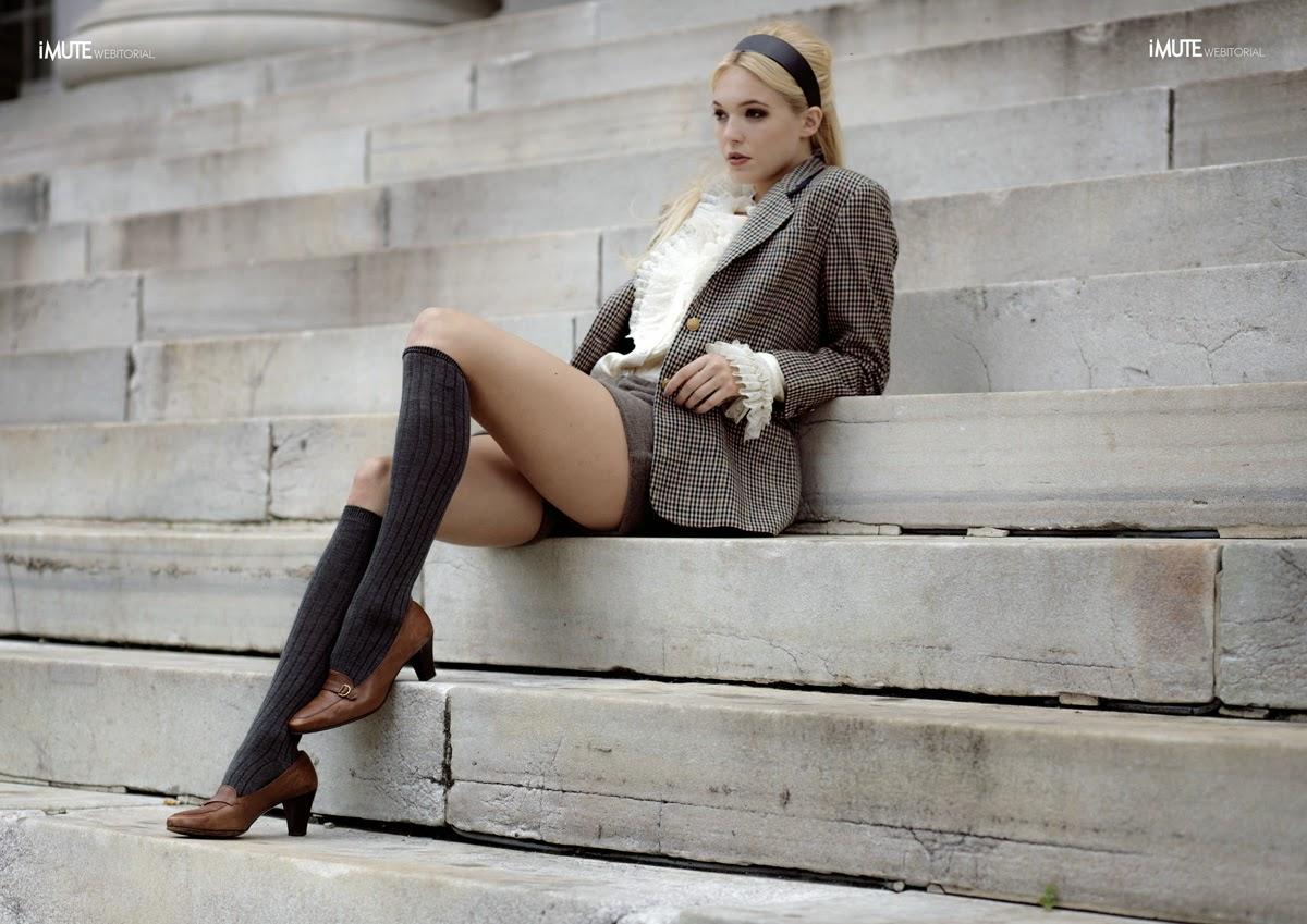 fashion nyc stylist, fashion editorial, photoshoot, gossip girl, outfit, preppy, blazers, plaid, knee socks, loafers, back to school, outfits, inspiration, wardrobe stylist, gossip girl, serena van der woodsen, blair waldorf, skirts, plaid