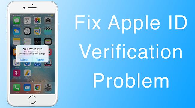 Apple ID Verification Error