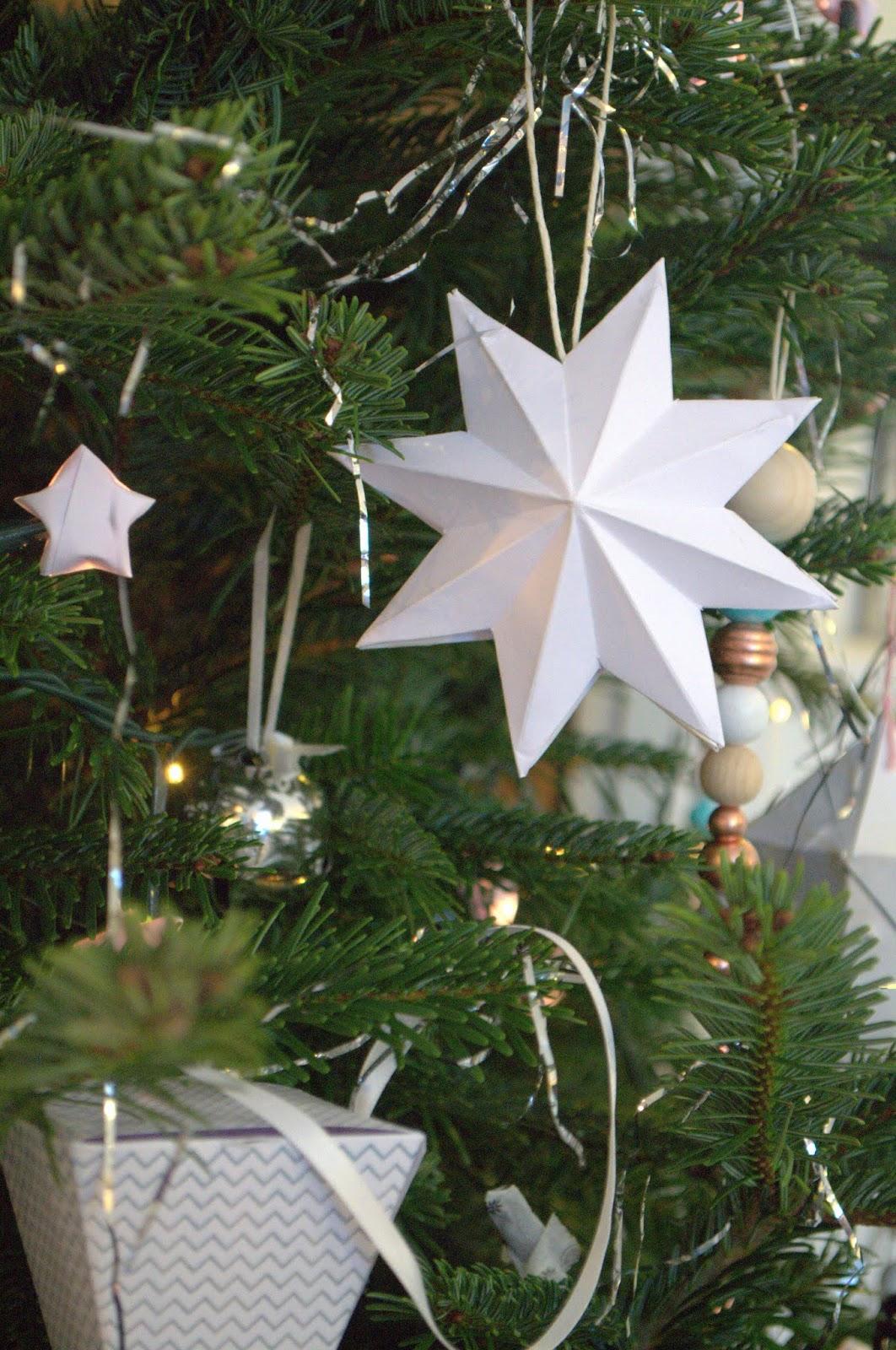 Nostalgiecat diy paper star ornament for Diy paper stars