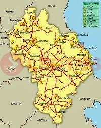 Χάρτης  Ν. Λάρισας