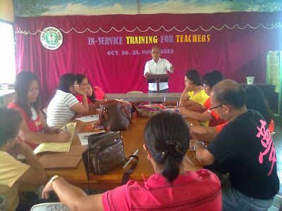 The school principal giving supplemental idea