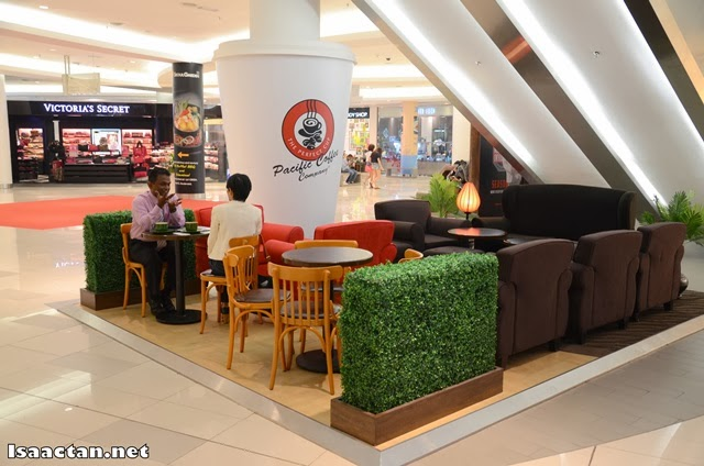 Comfy seats at Pacific Coffee Company Paradigm Mall