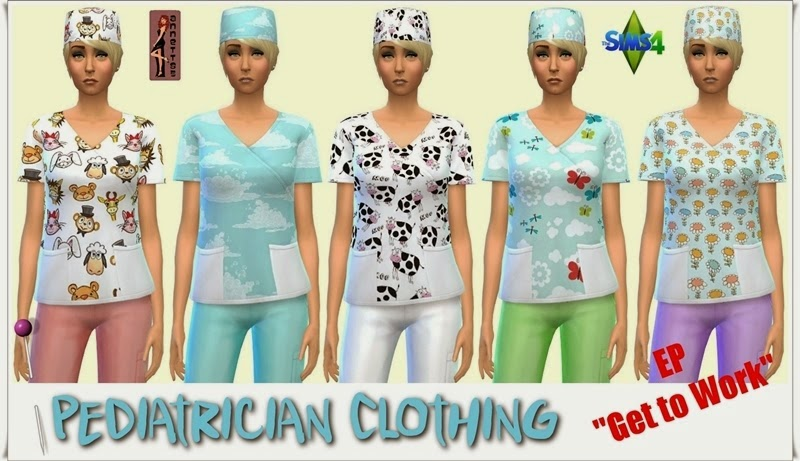 My Sims 4 Blog Scrubs Blouse And Swimear For Females By