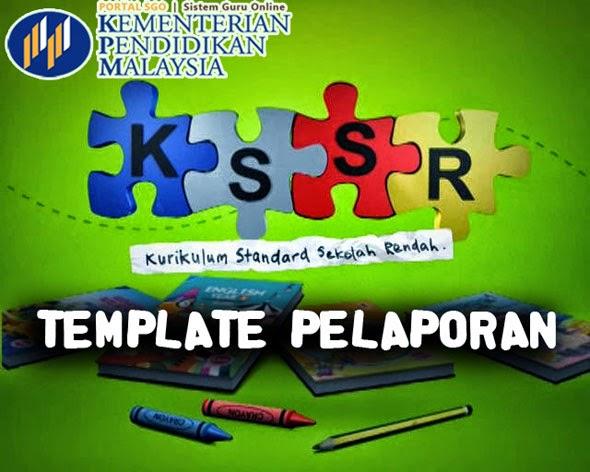 Template Pelaporan Offline Semua Subjek Tahun 4 KSSR
