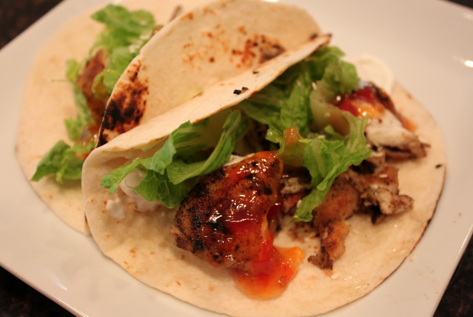 Kelly 39 s healthified kitchen sweet chili fish tacos for Food network fish tacos