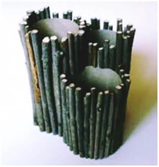 Gambar kreasi kerajinan tempat pensil unik dari ranting