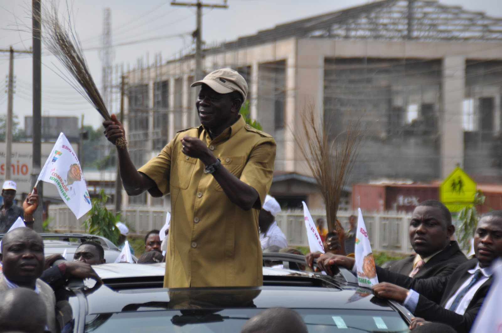 Adams Oshiomhole election tribunal victory in Benin City