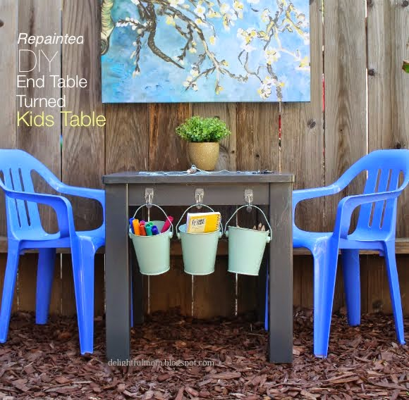 DIY End Table Into Kids Table